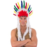 Indian Feather Headdress Multicolour