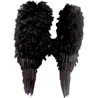 Large Angel Wings Black Feather