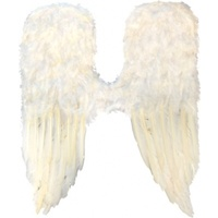 Large Angel Wings White Feather