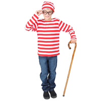 Where's Waldo / Wallace / Wally Costume Child Size