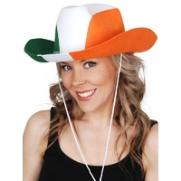 Cowboy Hat - Green / Orange / White