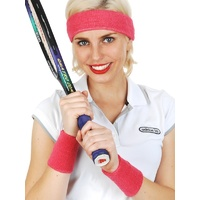 Sporty Sweatband Set Hot Pink