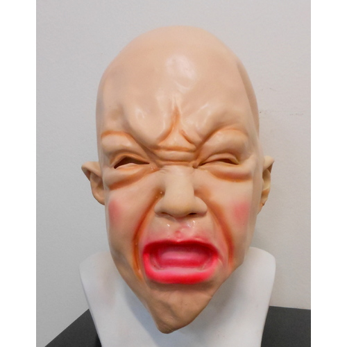 Baby Face Crybaby Bald Head Latex Mask