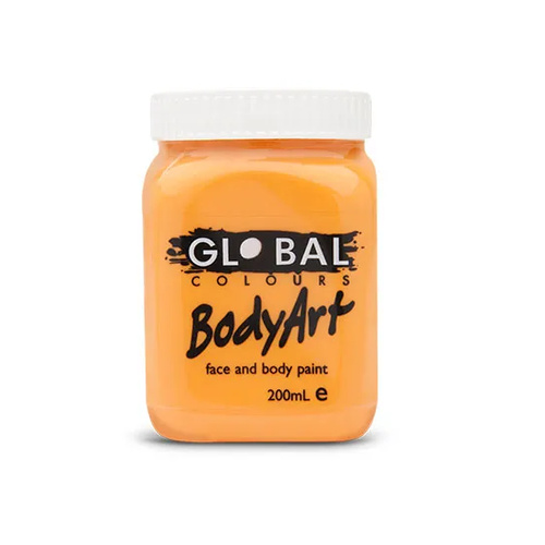 Bodyart Non-Toxic Face & Body Paint Orange 200ml