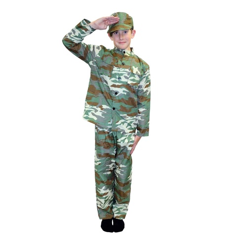 Soldier Costume Unisex Tween Size