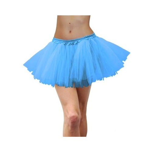 Deluxe Adult Tulle Tutu Blue