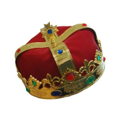 Royal Crown Red with Gold Trim Party Hat